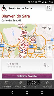 Mapa para elegir taxi