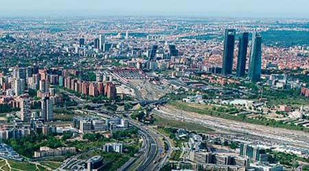 Vista aérea Madrid