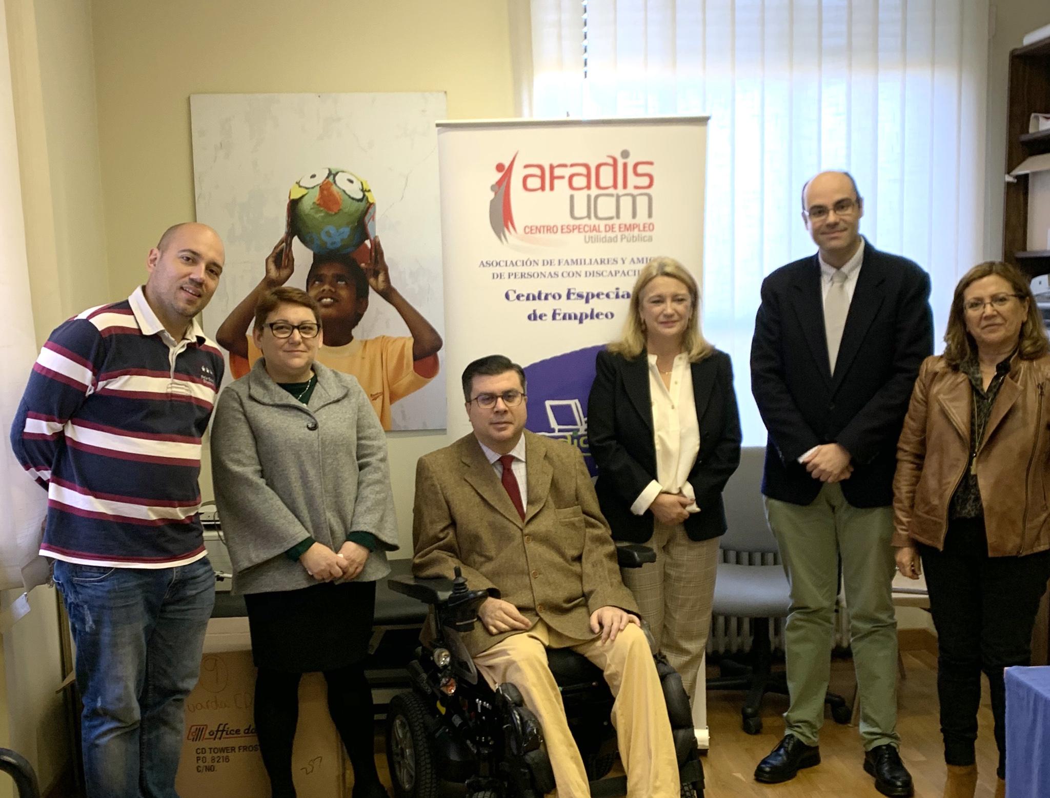 Acuerdo entre FAMMA y AFADIS  por la accesibilidad en la Complutense